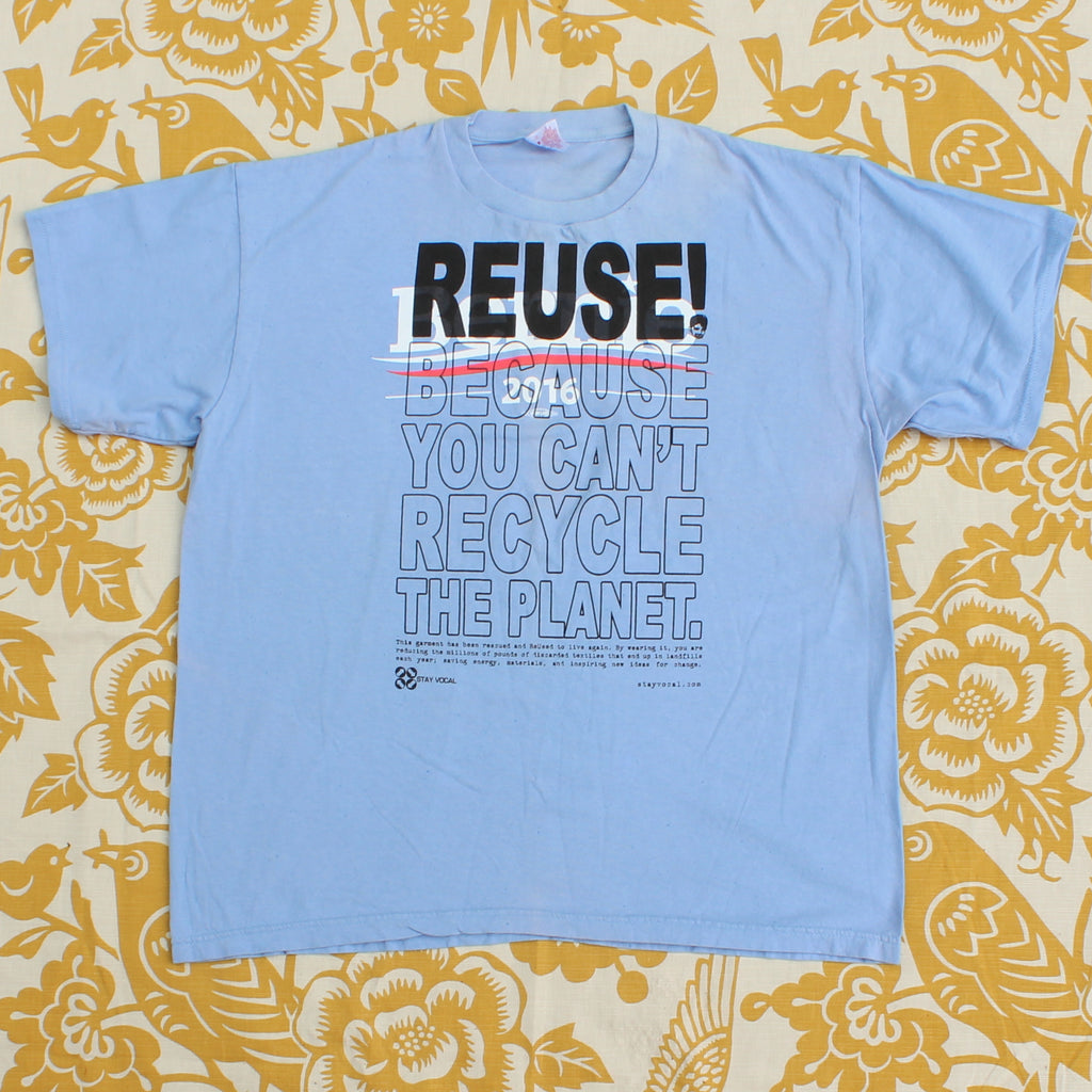 One of a Kind (Men's XL) REUSE! The Political Revolution T-Shirt