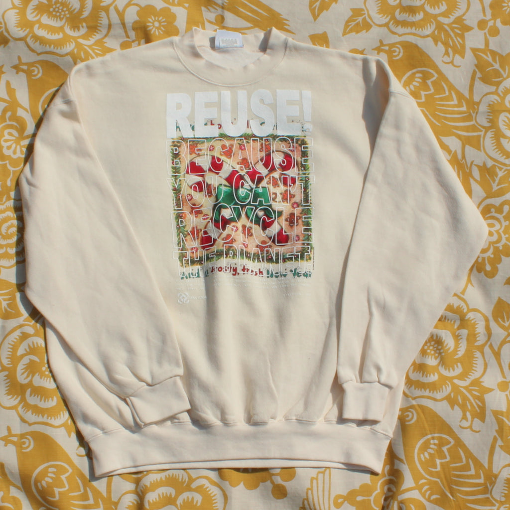 One of a Kind (Men's XXL) REUSE! Candy Canes Crewneck Sweatshirt