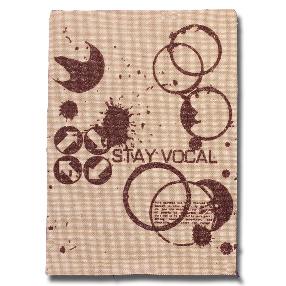 STAY VOCAL Coffee Stains Logo Patch