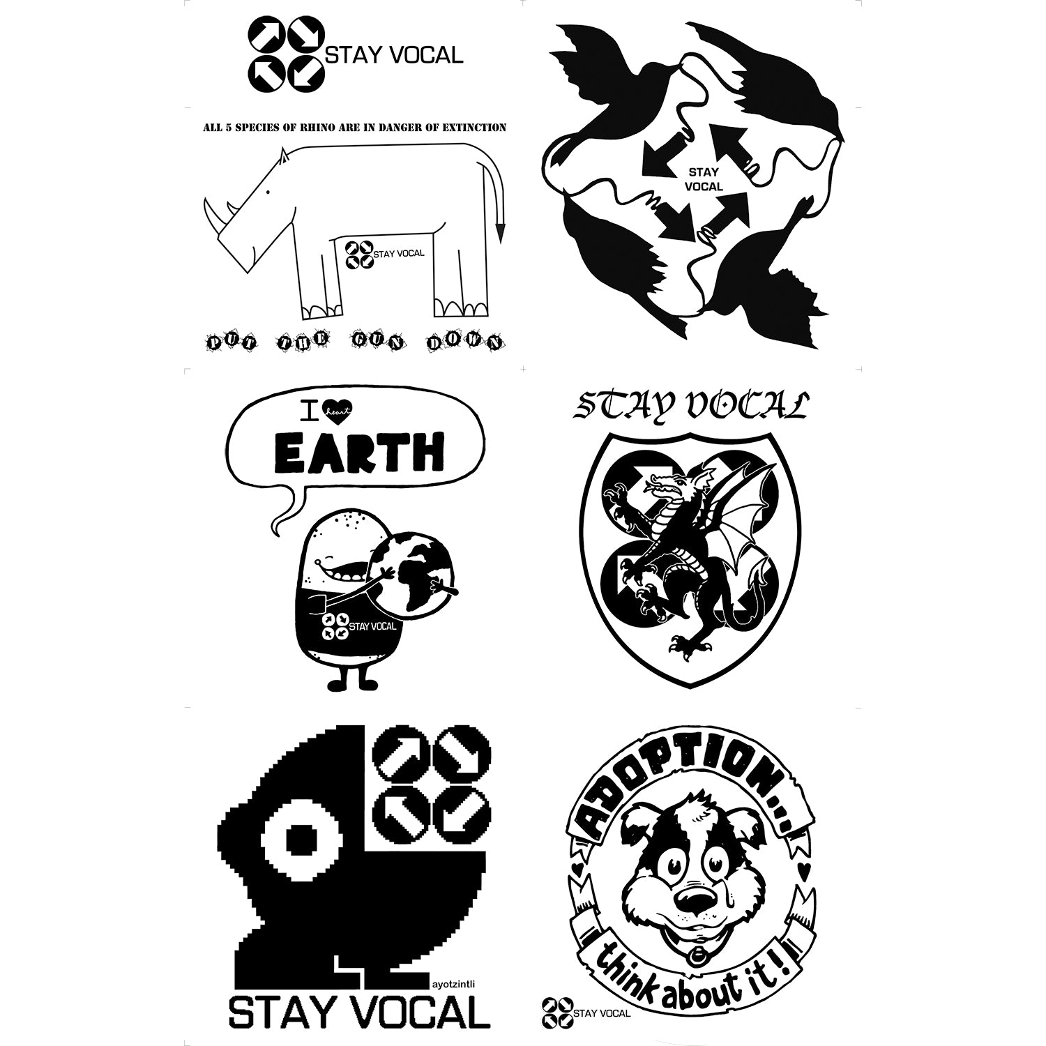 Animal Patch Sheet