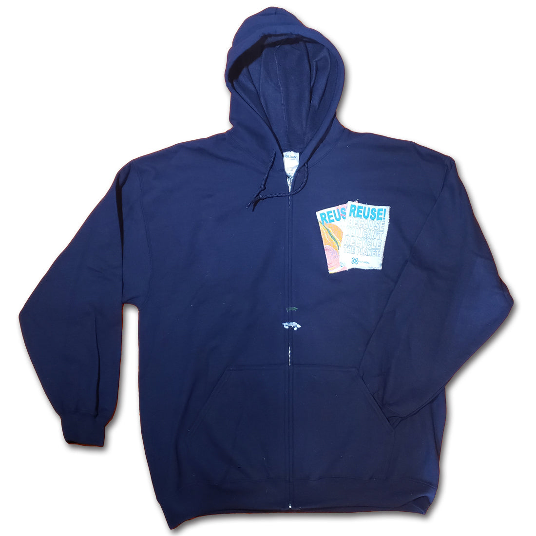 REUSE! Double Pocket Patch Salvage Hoodie