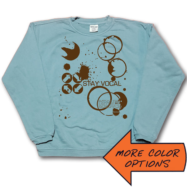 Coffee Stains Logo Crewneck Sweatshirt