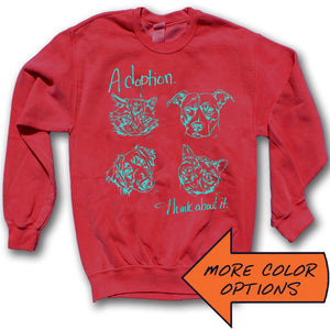 Adoption... Think About It! Faces and Names Crewneck Sweatshirt