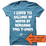 I Saved 713 Gallons of Water