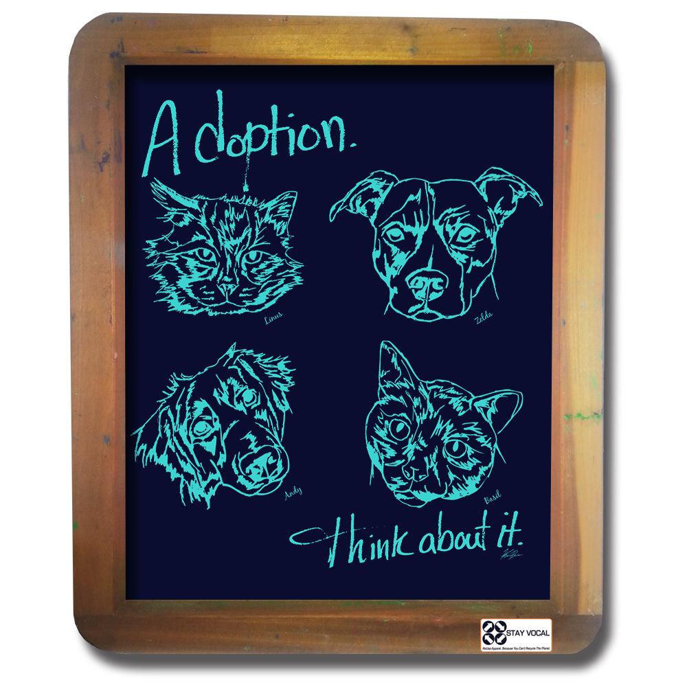 Adoption... Think About It! Faces and Names Wall Hanging