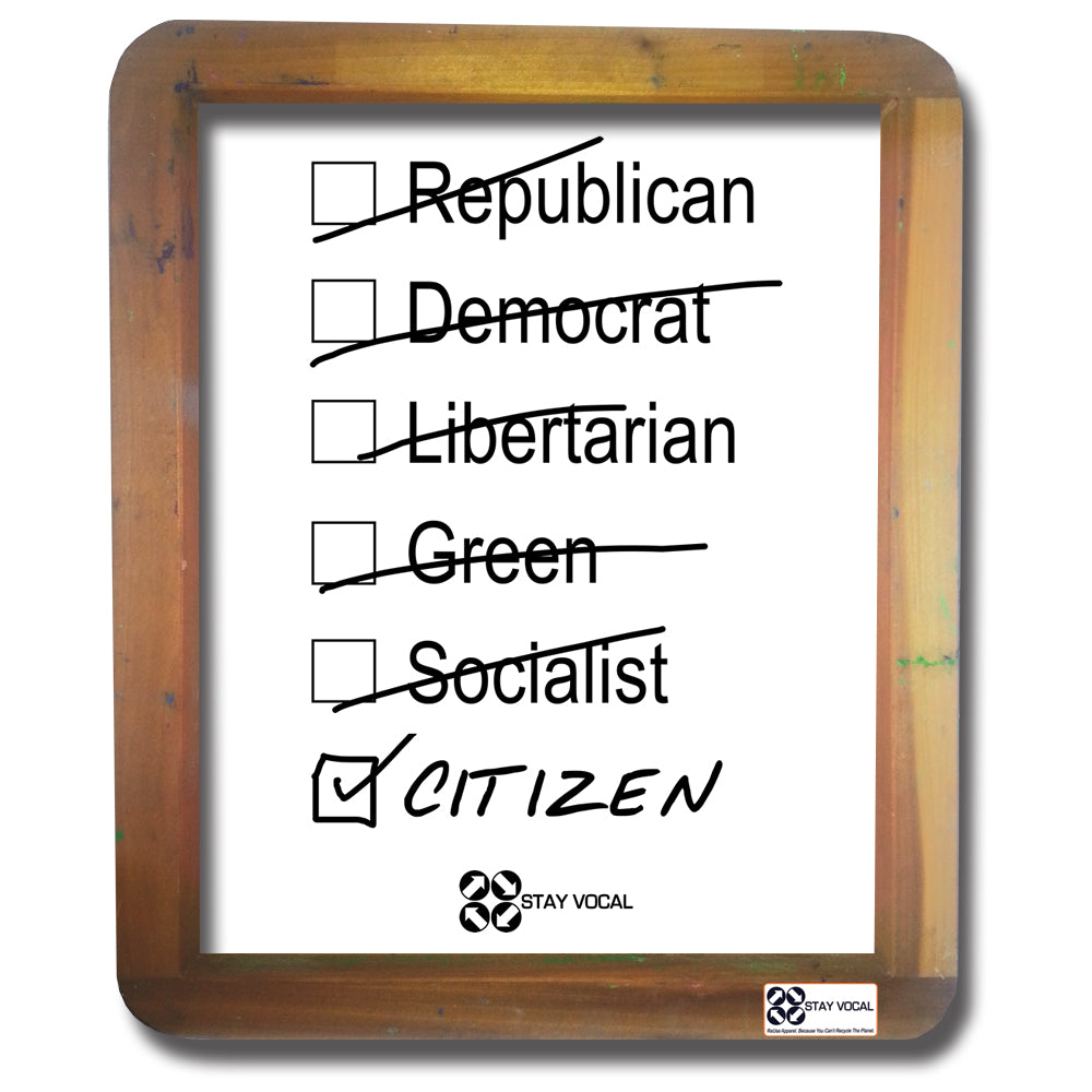 Citizen Wall Hanging