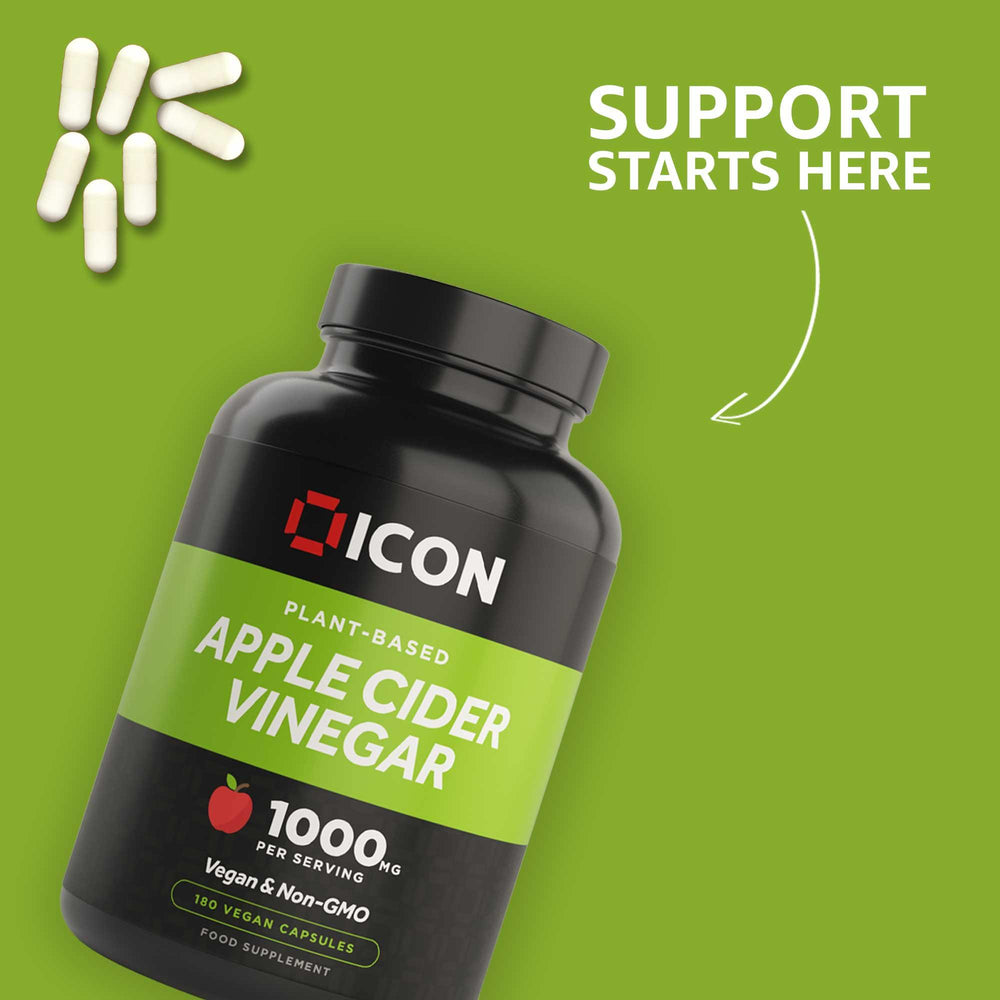 Apple Cider Vinegar (180 Capsules) - ICON Nutrition