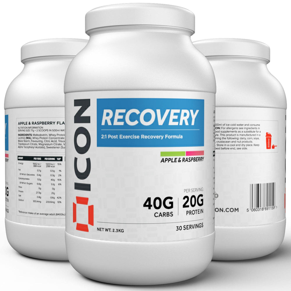 icon nutrition recovery protein supplements sports nutrition carbohydrates