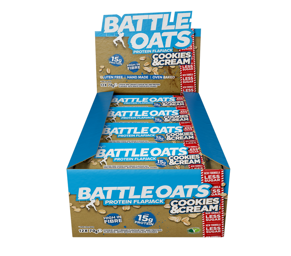 protein bar, protein oat bar, protein flapjack, battle oats
