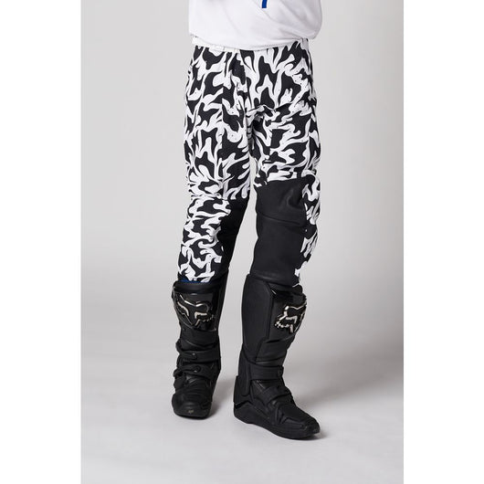 Pantalon SHIFT BLUE LABEL FLAME - Blanco/Negro