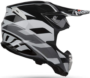 Casco Motocross AIROH TWIST - Blanco / Negro