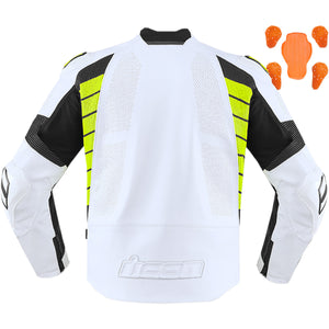 Chaqueta ICON HYPERSPORT 2 PRIME - Blanco / Amarillo