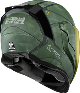 Casco Integral ICON AIRFLITE - Battlescar 2 Verde