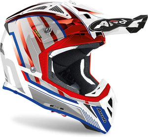 Casco Motocross Airoh AVIATOR 2.3 GLOW CHROME RED