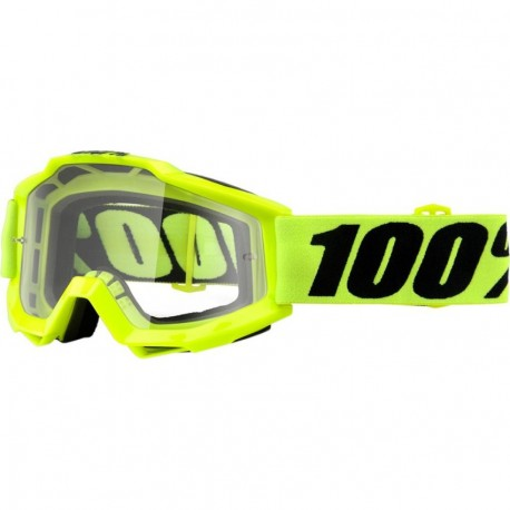 GAFAS 100% ACCURI OTG FLUO YELLOW - CLEAR LENS