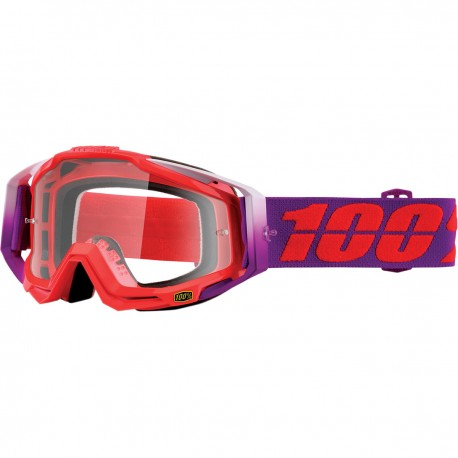 GAFAS 100% RACECRAFT WATERMELON - CLEAR LENS