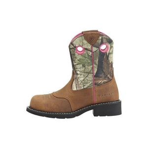 Women's Fatbaby Toasted Auburn Cowgirl Steel Toe Boot