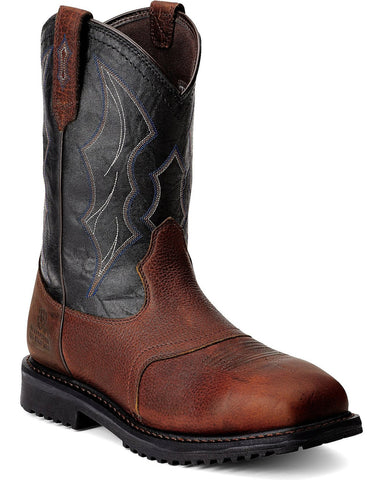 Men's RigTek Wide Square Toe Waterproof Composite Toe Work Boot