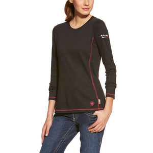 Ariat Women's Work FR Polartec Power Dry Shirt  Black