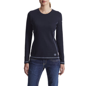 Ariat Women's Work FR Polartec Power Dry Shirt Navy