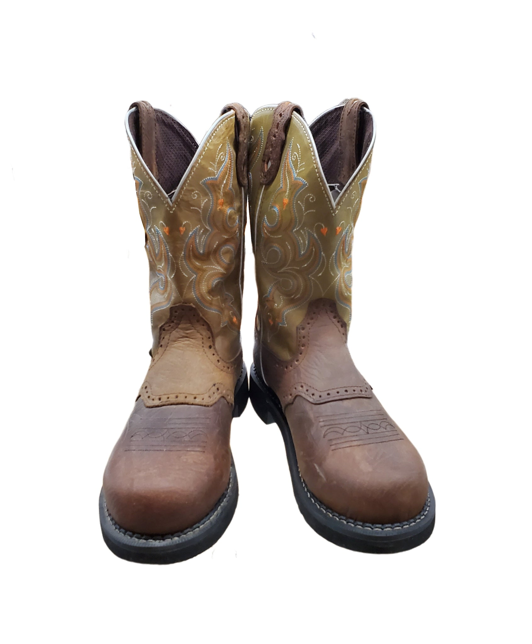 Women's Green Gypsy Collection Work Boots, Comp Toe