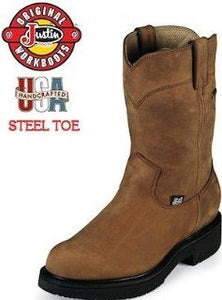 "Men's 10"" Aged Bark Gore Tex Waterproof Steel Toe Boot"
