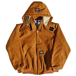 FR Brown Duck Hooded Jacket