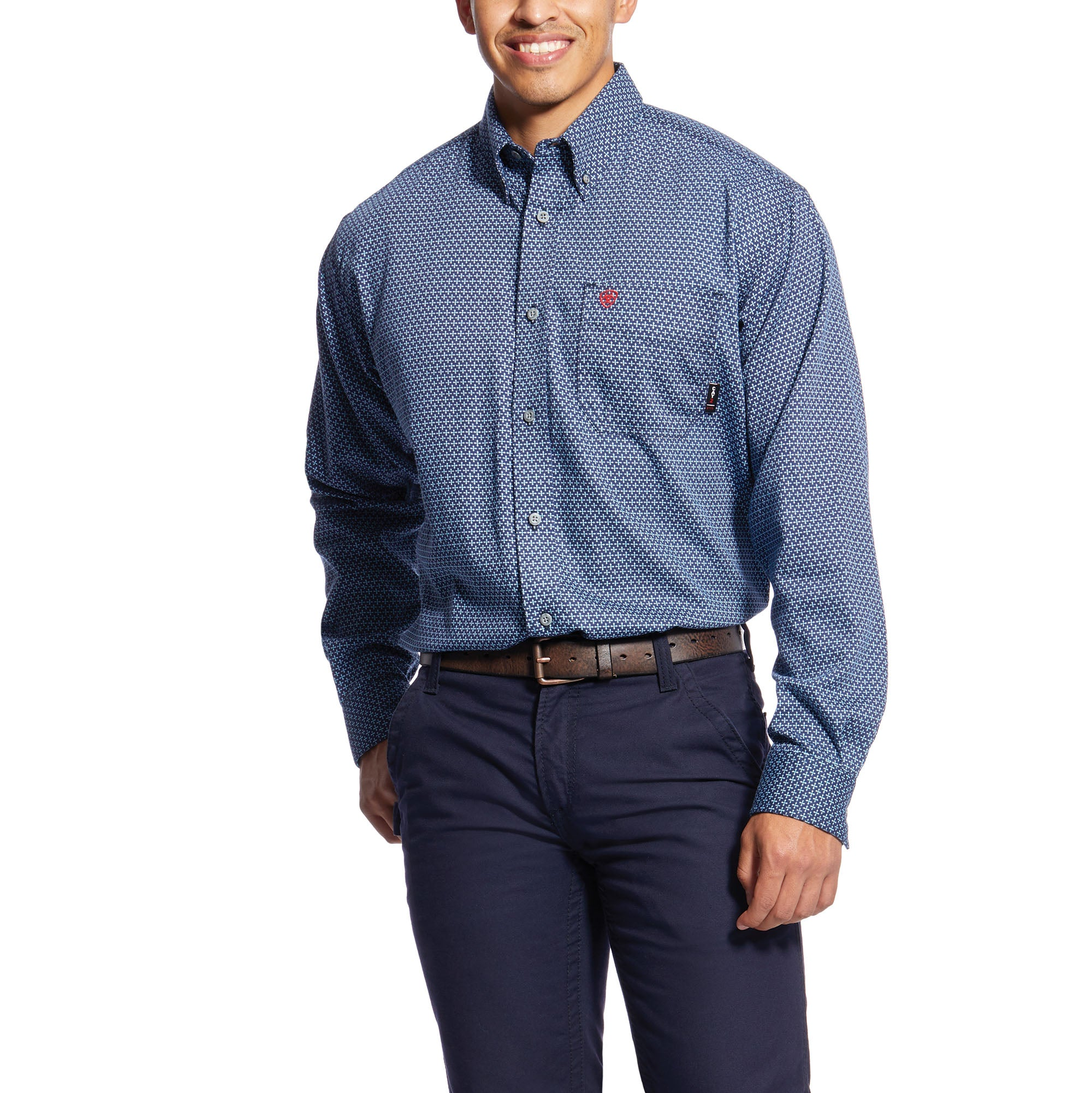 Ariat Men's Wrinkle Free Poplin Print Shirt