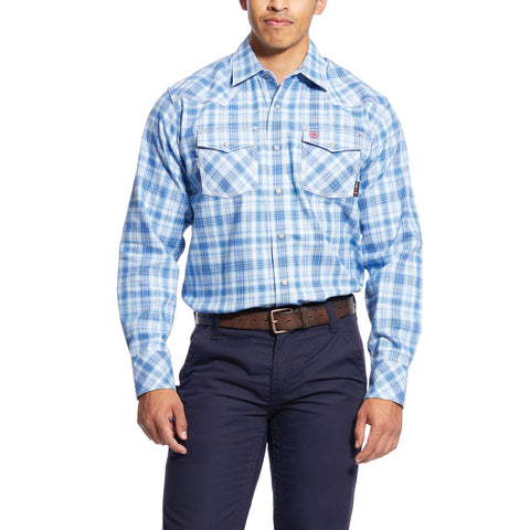 Ariat Men's Wrinkle Free Checked Pinpoint Classic Fit Shirt