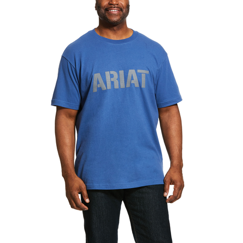 Rebar Cotton Strong Logo T-Shirt - Blue