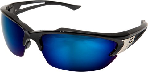 Edge Safety Glasses - Khor Black / Blue Mirror