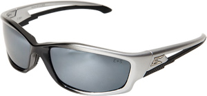 Edge Safety Glasses - Kazbek Black/Silver Mirror