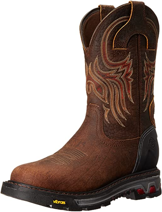 Men's Tumbled Mahogany Waterproof Steel Toe Work Boot