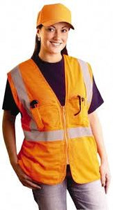 Economic Zip Vest Orange