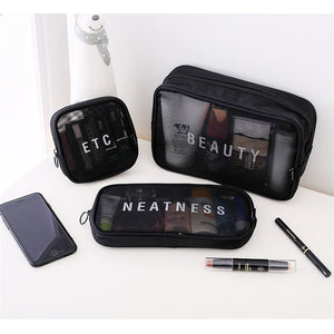 Transparent Makeup Case Organizer Storage Pouch Beauty Wash Kit Bags