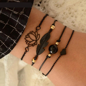 Black Feather  Bracelets