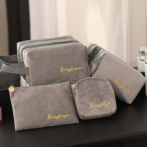 Cosmetic Bag Soft Velvet Women Makeup - Bag Travel Makeup Storage Organizer