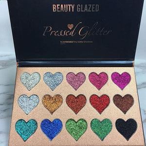 15 Color Glitters Injections Pressed Eyeshadow Pallete Diamond Make Up Eye Shadow