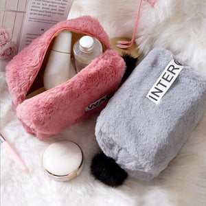 Sweet Cotton Material Cosmetic Bag