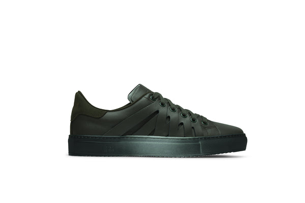 PS821 ALPHA Low-Top Sneaker in Green Chromatic Leather