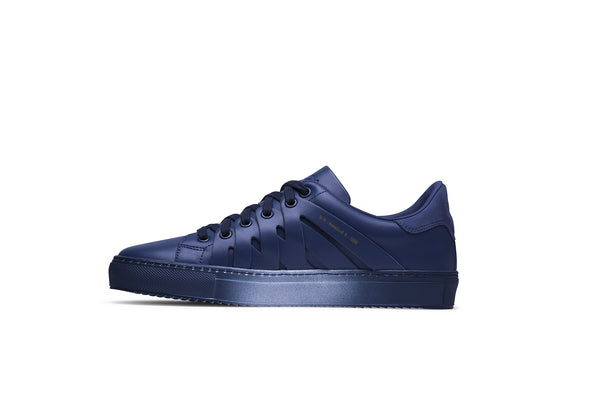 PS821 ALPHA Low-Top Sneaker in Blue Chromatic Leather