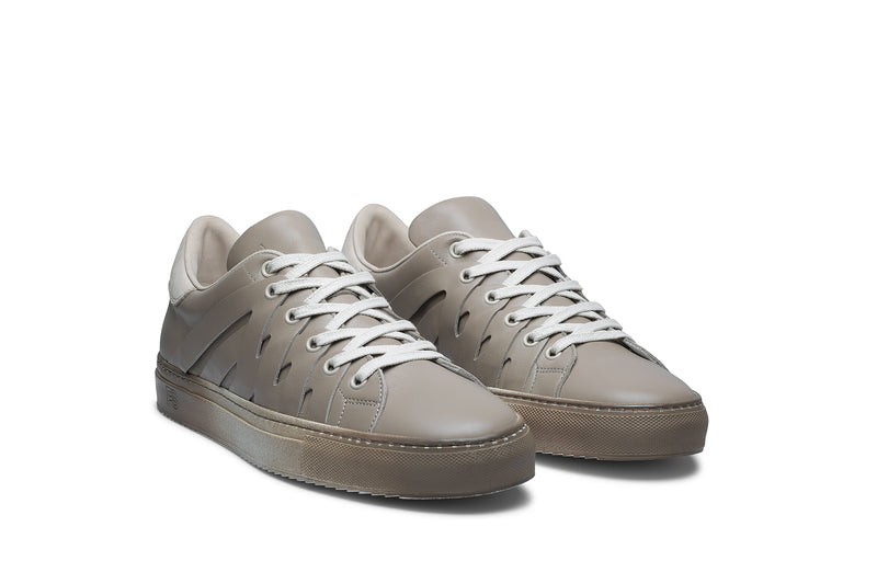 PS821 ALPHA Low-Top Sneaker in Cream Chromatic Leather