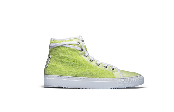 PS821 Mint Green Terry Cloth High-Top Sneaker