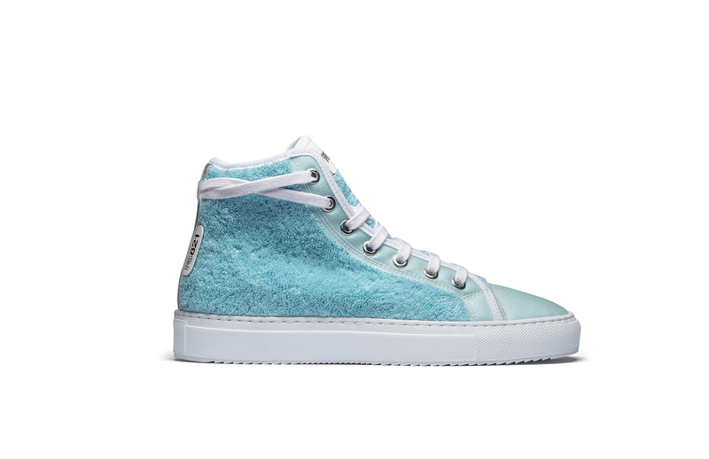 PS821 Sky Blue Terry Cloth High-Top Sneaker
