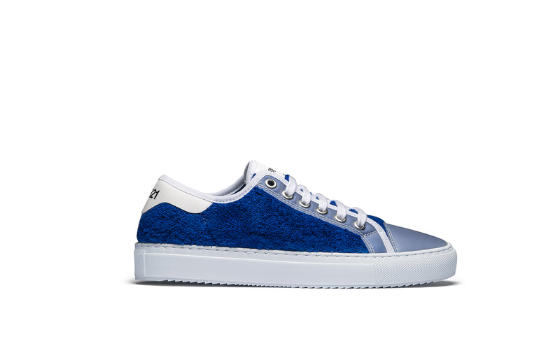 PS821 Azure Blue Terry Cloth Low-Top Sneaker