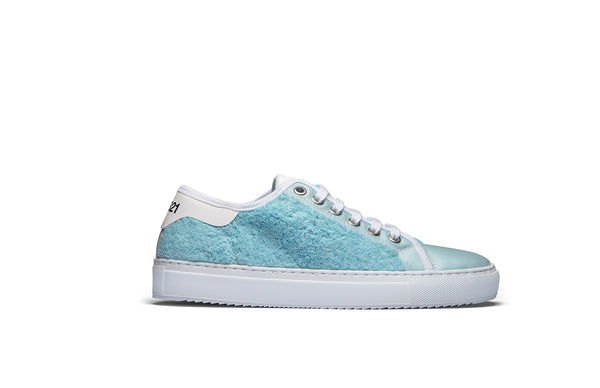 PS821 Sky Blue Terry Cloth Low-Top Sneaker