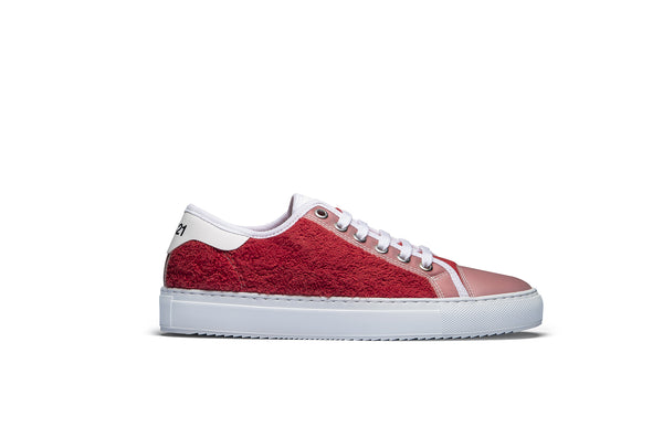 PS821 Apple Red Terry Cloth Low-Top Sneaker