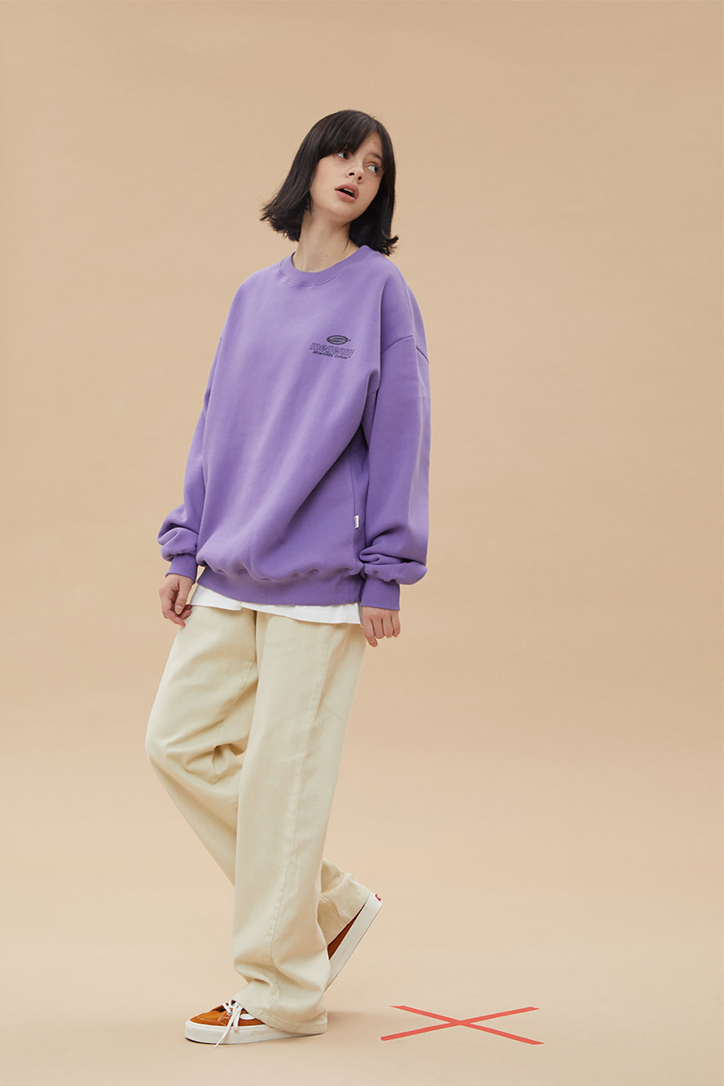 メグニースウェット / MEGENNY SWEATSHIRT v1_LIGHT PURPLE
