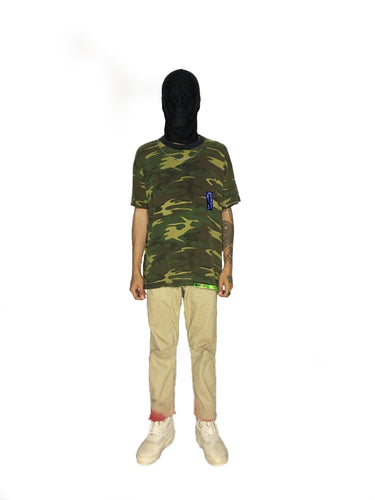 HAND PAINTED CAMO T-SHIRT