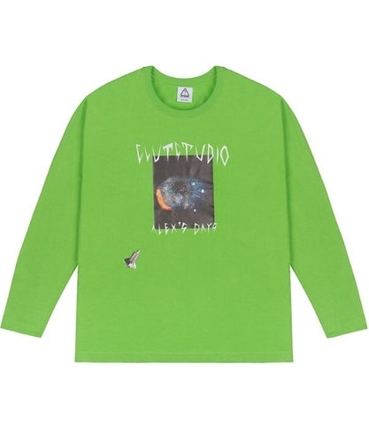 0 2 space eye t-shirt - LIME